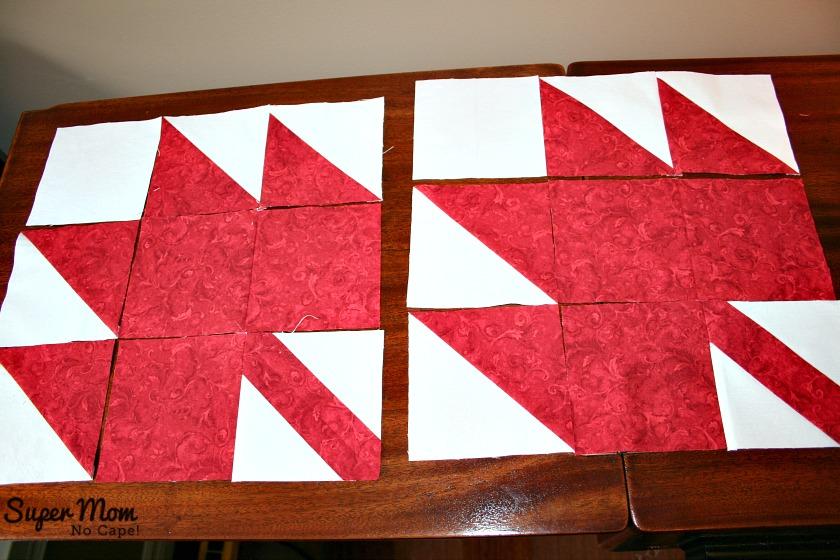 Maple Leaf Blocks - Step 7B