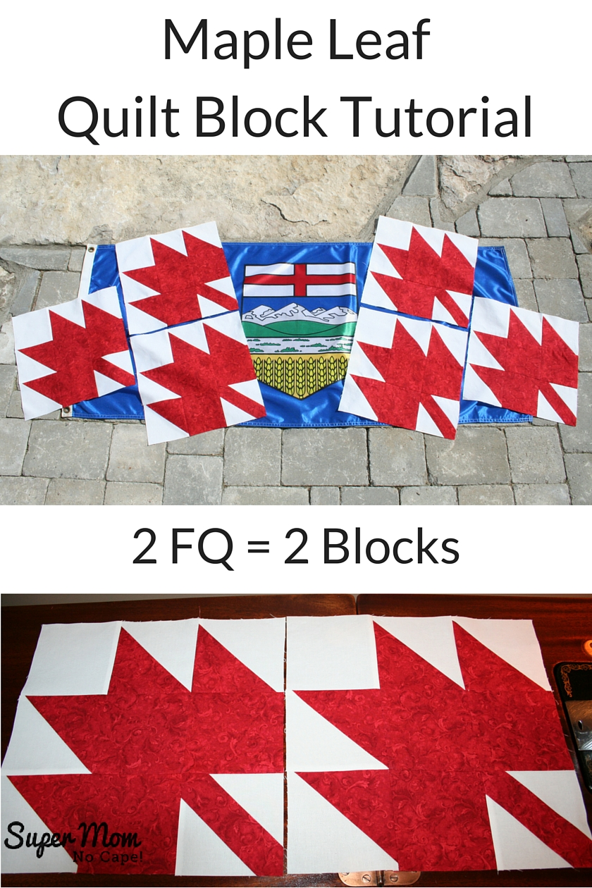 Maple Leaf Quilt Block Tutorial