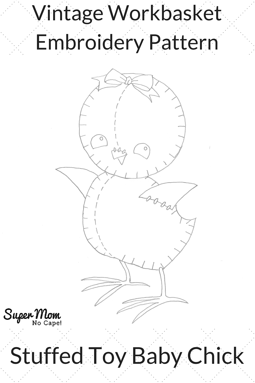 Vintage Workbasket Embroidery Pattern - Stuffed Toy Baby Chick