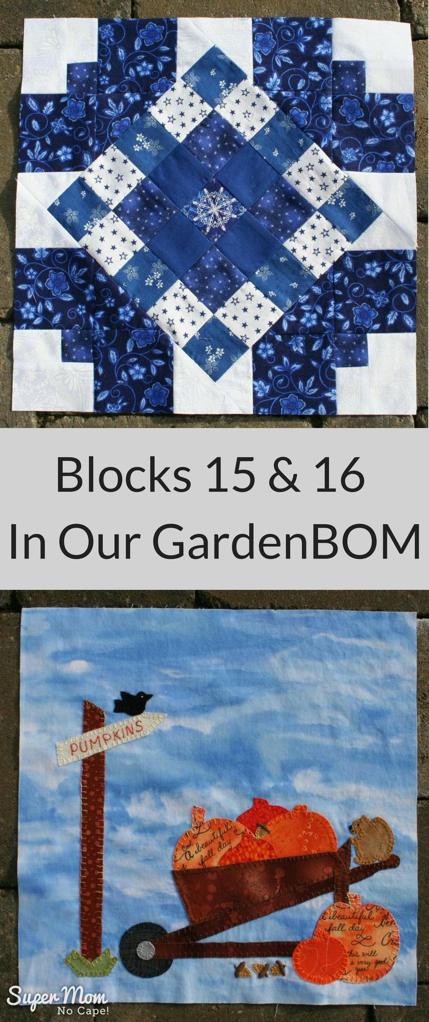 Blocks 15 & 16 - In Our Garden BOM