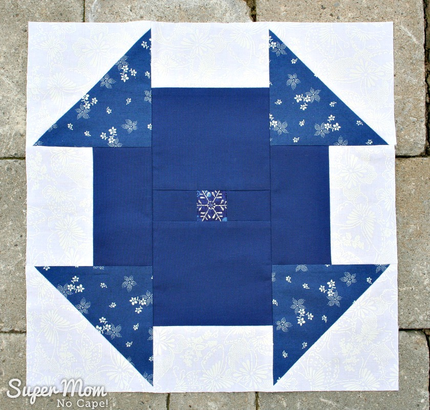 Blue and White version of Block 13 for the In Our Garden BOM
