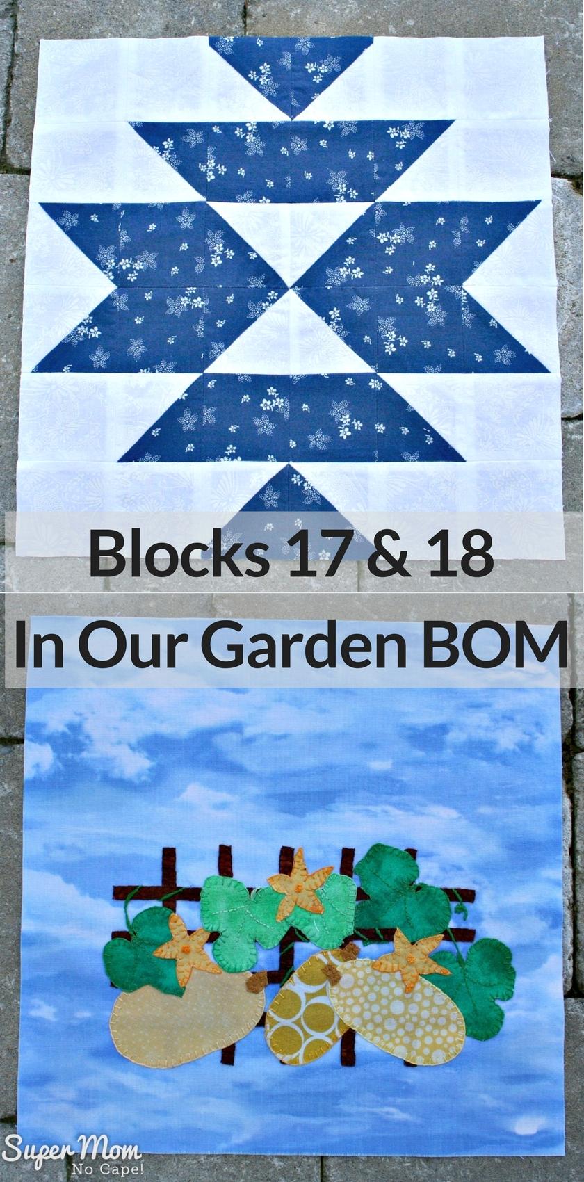 Blocks 17 & 18 - In Our Garden BOM