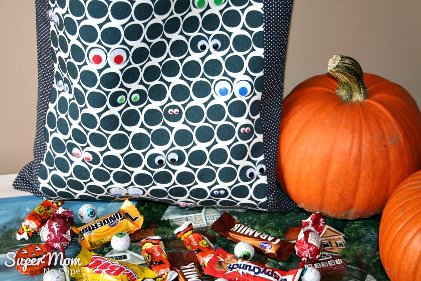 Close-up of Spooky Eyeballs Trick or Treat Bag