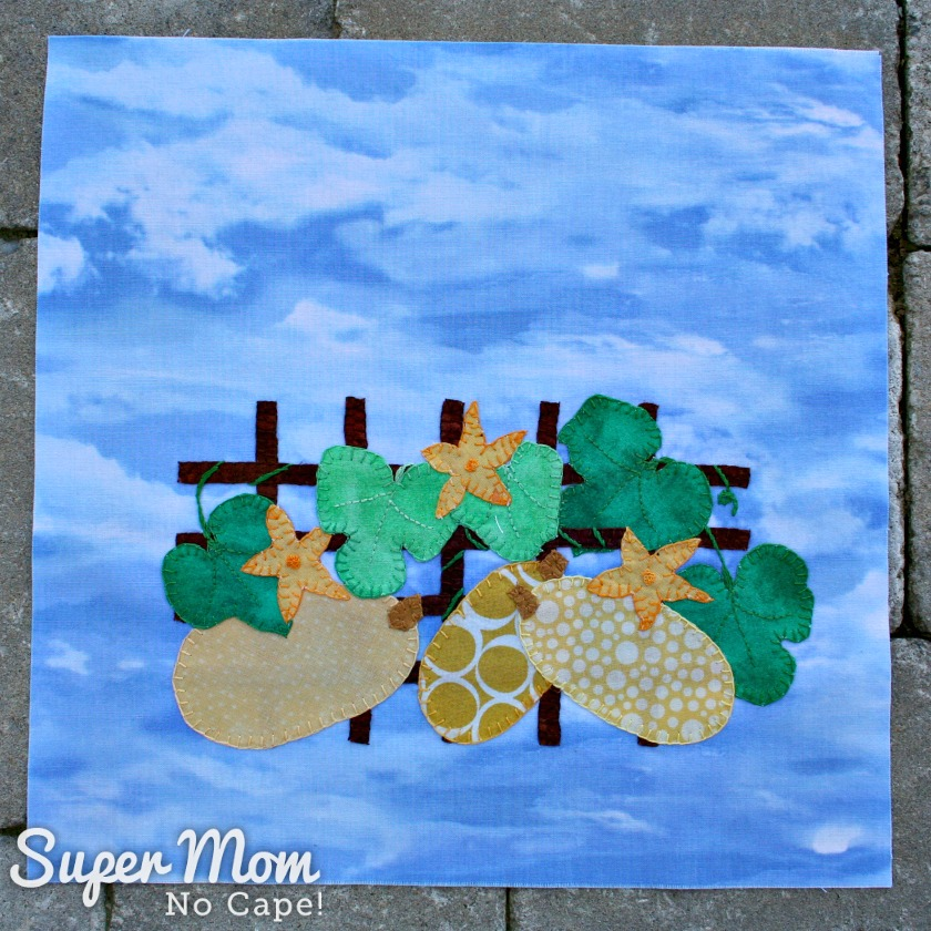 Scrap Drawer Version of Block 18 for the In Our Garden BOM on Super Mom - No Cape!