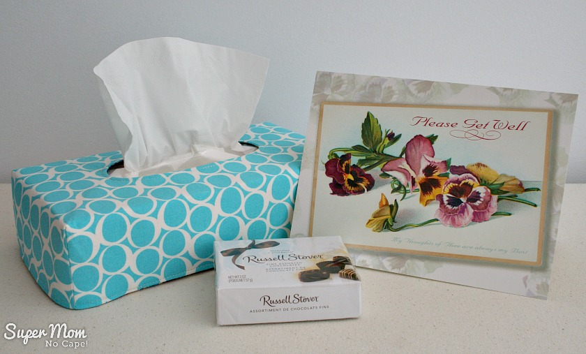 Short Reversible Tissue Box Cover made with Round Elements by Art Gallery Fabrics