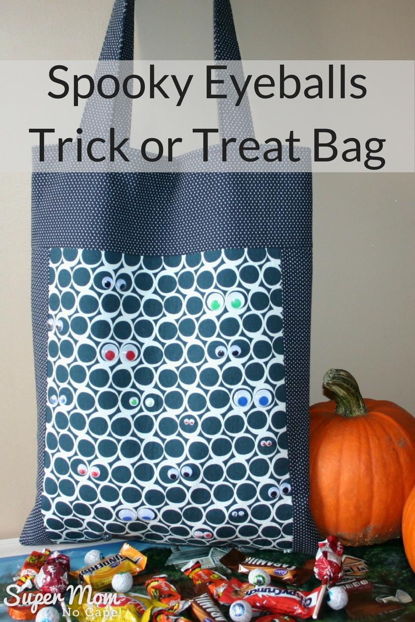 Spooky Eyeballs Trick or Treat Bag