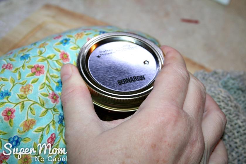 10. Best Ever Homemade Cranberry Sauce - tighten lid finger tight