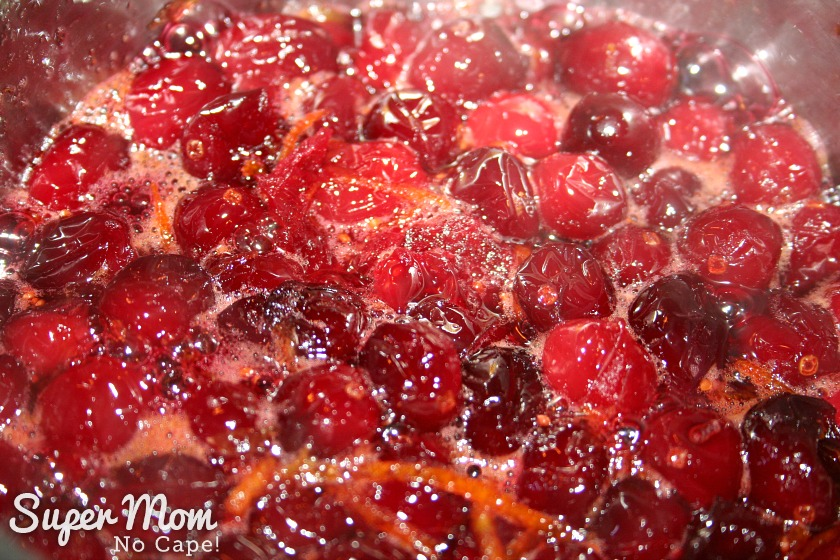 Best Ever Homemade Cranberry Sauce - cooking down
