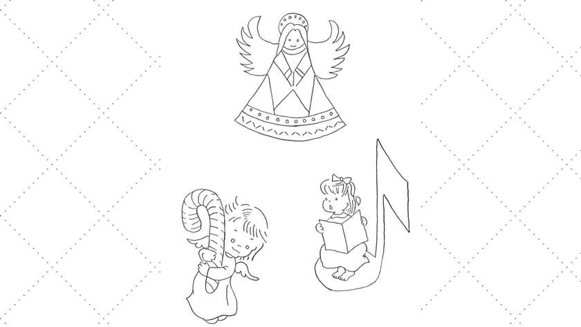 Three Sweet Vintage Angel Embroidery Patterns