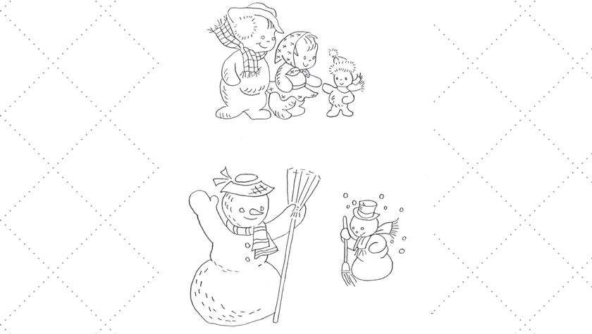 Snow Family and Snowmen Friends Embroidery Patterns