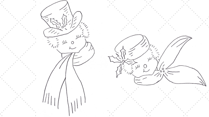 Snow Gentleman and Snow Lady Embroidery Patterns