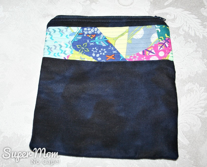Larger zippered pouch made by Pauline