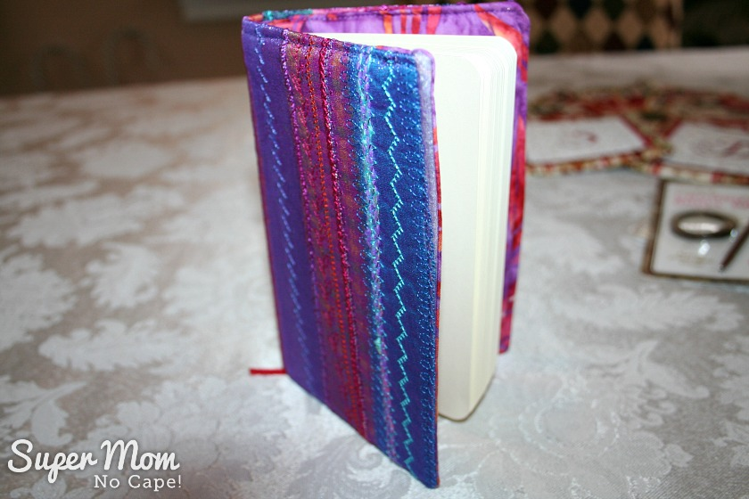 Mini Journal - machine embroidered cover made by Pauline