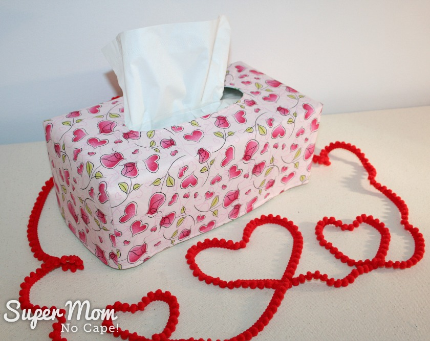Last Minute Valentine's Gift Ideas - Reversible Valentine's Tissue Cover