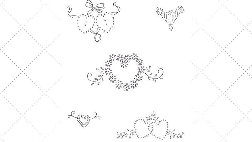 Five Small Vintage Heart Embroidery Patterns