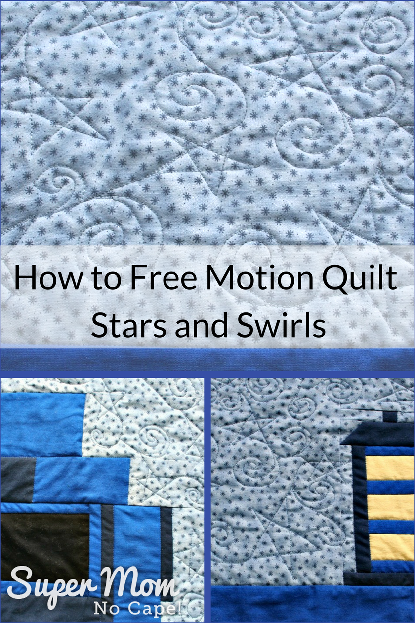 Video Tutorial of how to free motion quilt stars and swirls