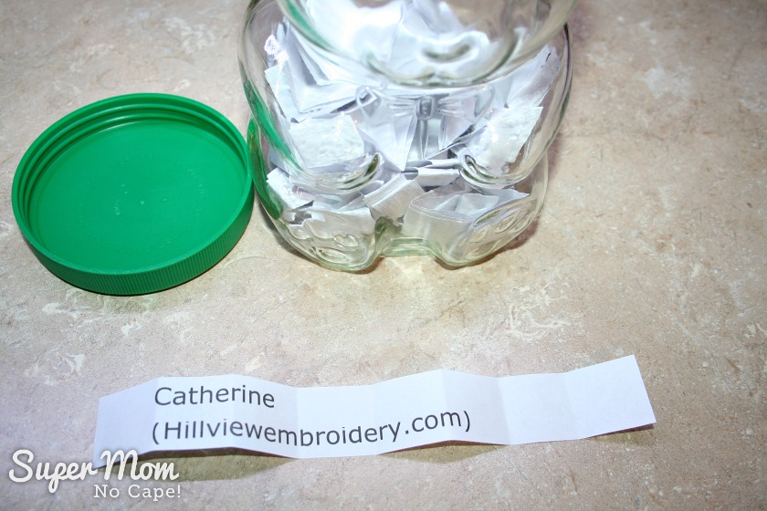 Stitchery Link Party 100 giveaway winner