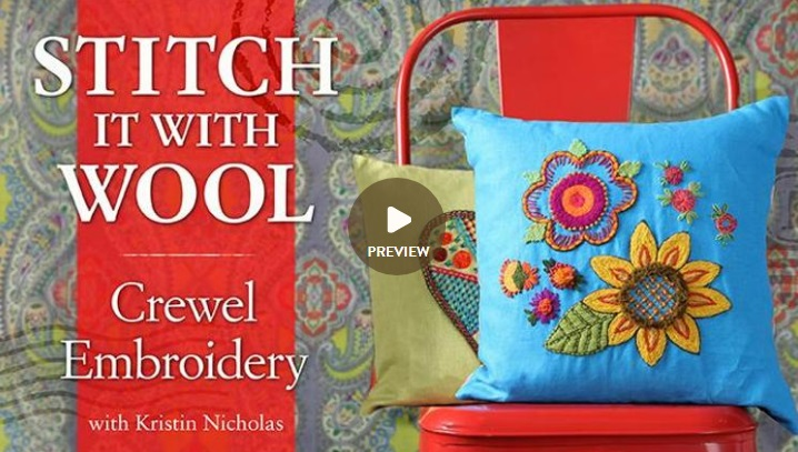 Stitch It With Wool Crewel Embroidery with Kristen Nicholas Craftsy ad image