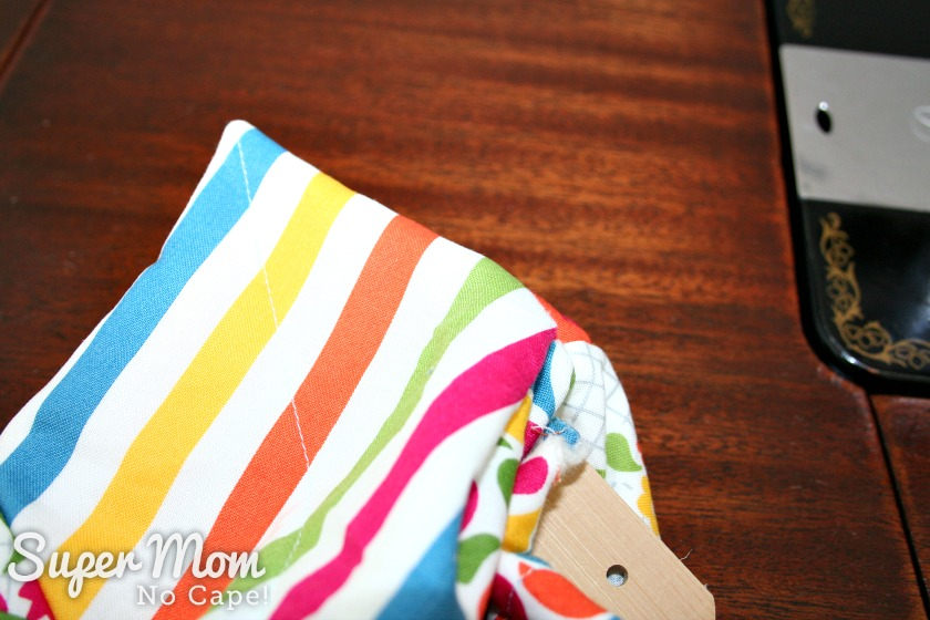 Charm Square Soup Bowl Cozy Tutorial - push all the corners to a point