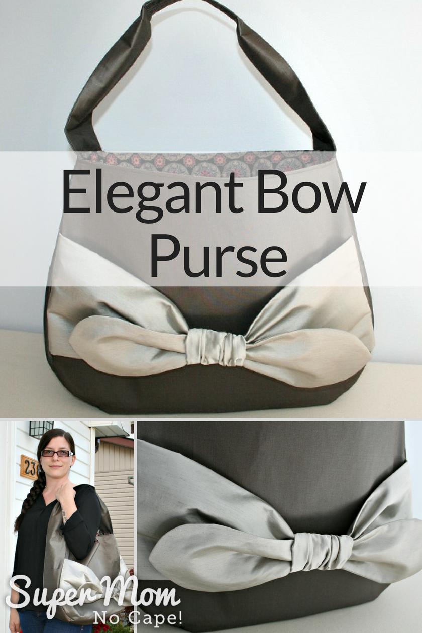 Elegant Bow Purse - original design by Susan Flemming of Super Mom - No Cape!