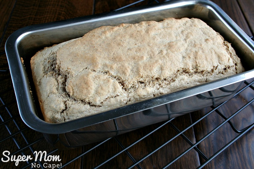 Herbed Beer Bread - Smooth top of batter in the loaf pan