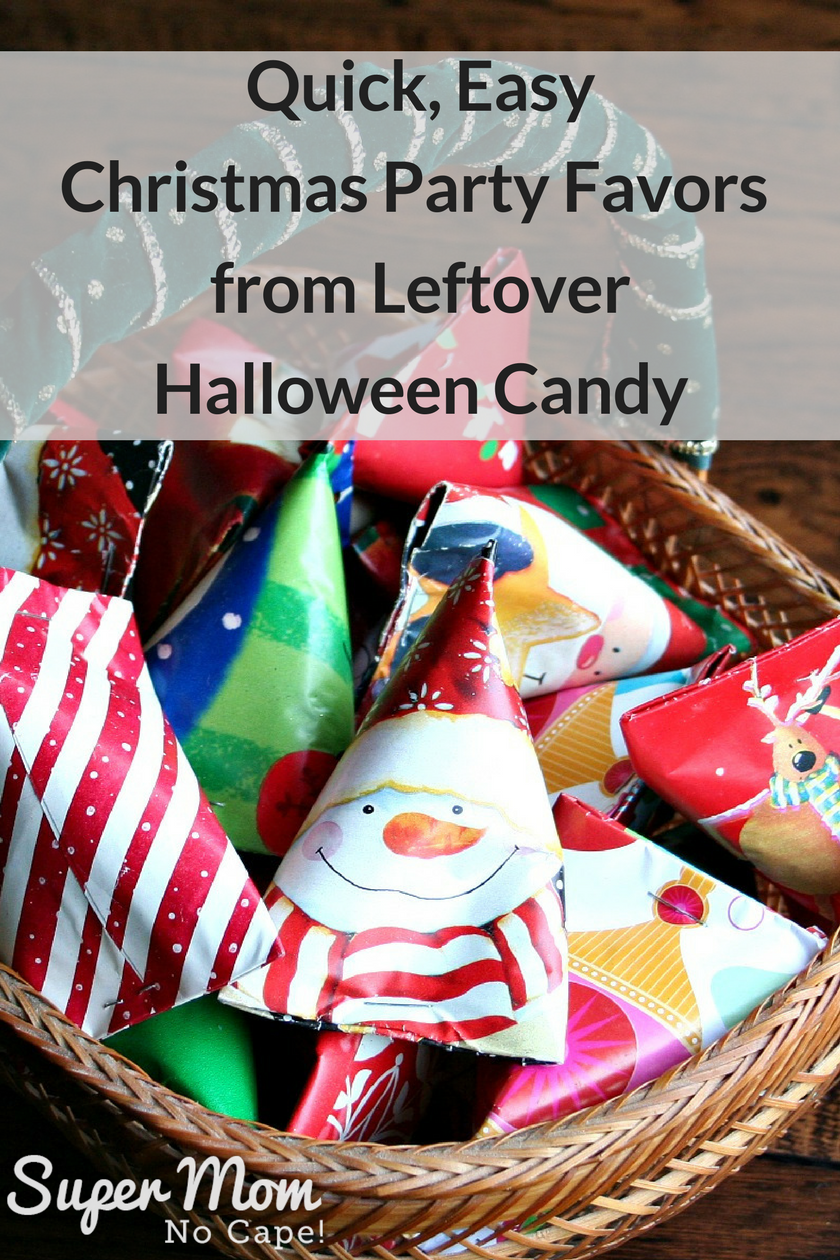Halloween Treat to Christmas Party Favor - Basket Full of Christmas Party Favors