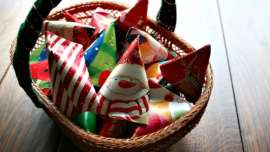 Halloween Treat to Christmas Party Favor - Christmas Party Favors in a Basket