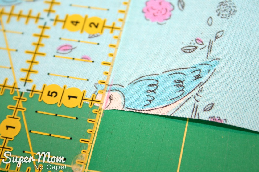One Hour Table Runner - How to measure for longer table runners - Step 2