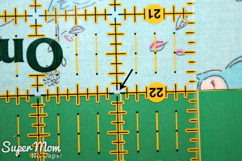 One Hour Table Runner - How to measure for longer table runners - Step 4