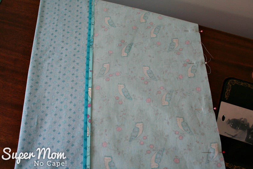One Hour Table Runner - Pin second long seam, right sides together to form a long tube