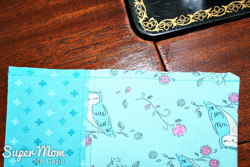 One Hour Table Runner - Trim seam allowance to one quarter inch