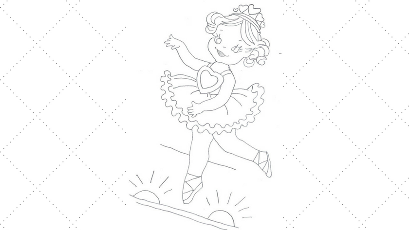 Ballerina Embroidery Pattern