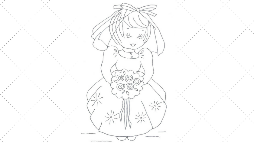 Bride Embroidery Pattern