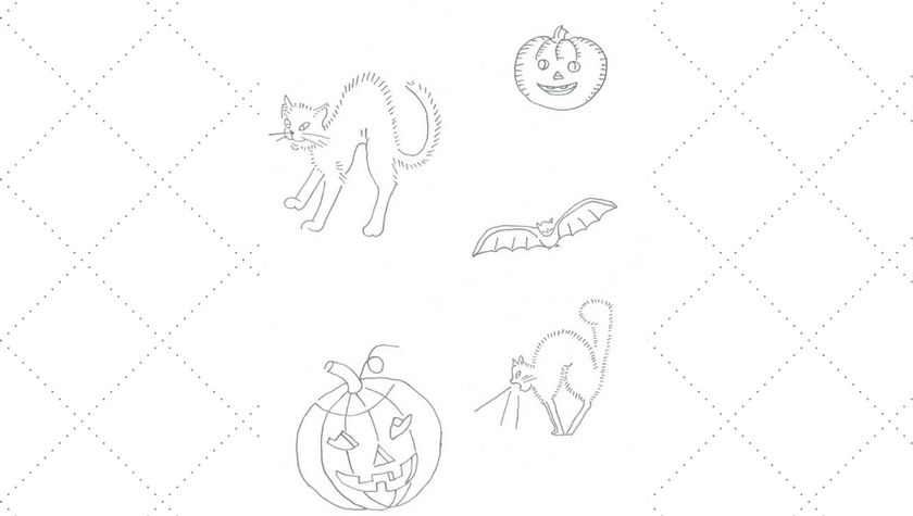 Halloween Embroidery Motifs – Jack O'Lanterns, Cats and Bat