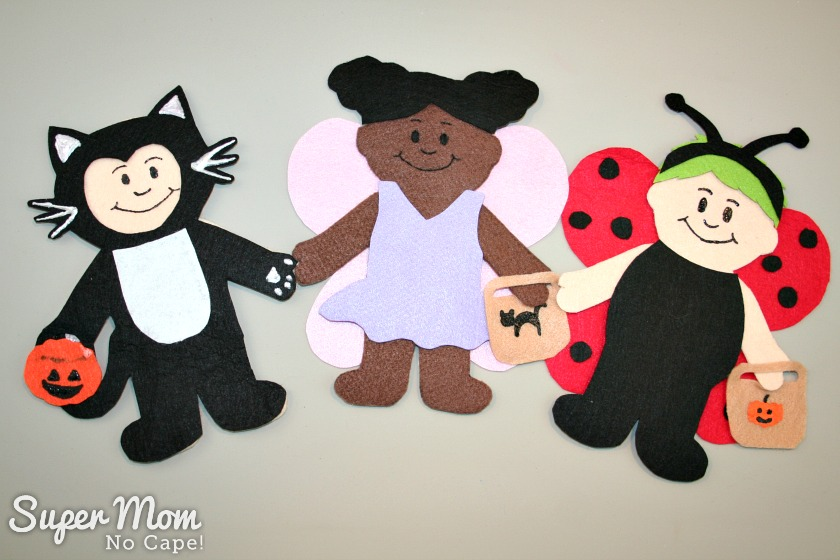 Wee Scholar Felt Doll Halloween Costume Pattern Release - Black Cat, Fairy and Ladybug