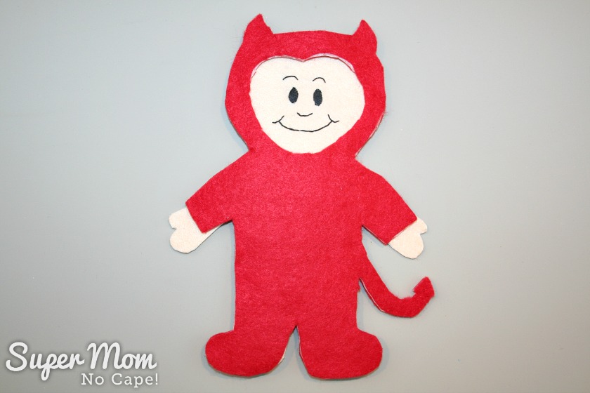 Wee Scholar Felt Doll Halloween Costume Pattern Release - Devil