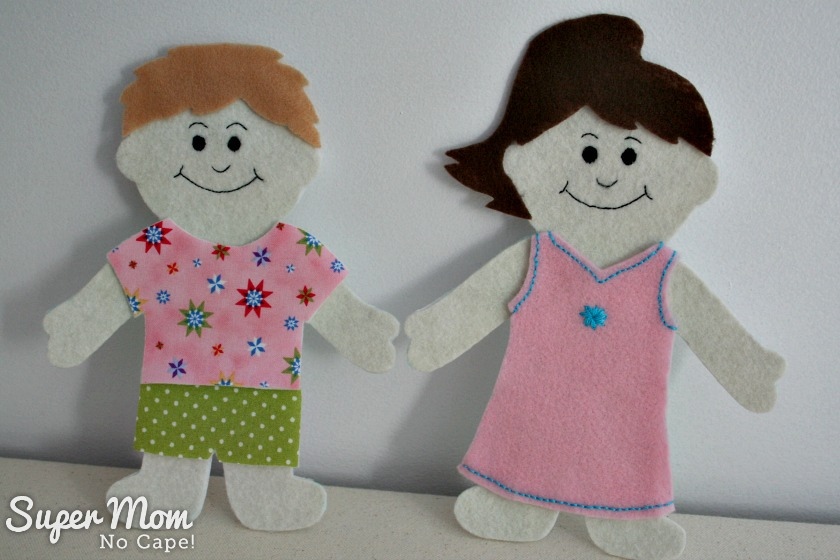 Wee Wisdom Felt Dolls made by Super Mom No Cape