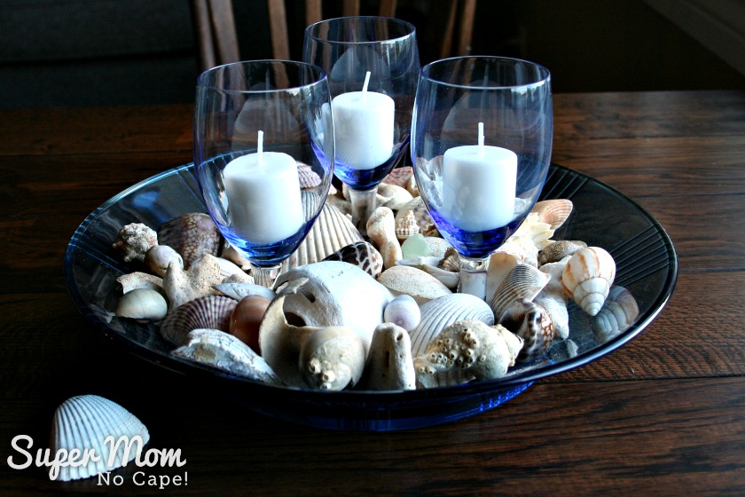 Beautiful DIY Sea Shell Home Decor and Gift Ideas - Wines and Glass Bowl