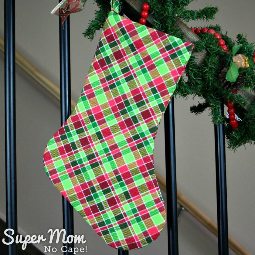 Contemporary Plaid Christmas Stocking