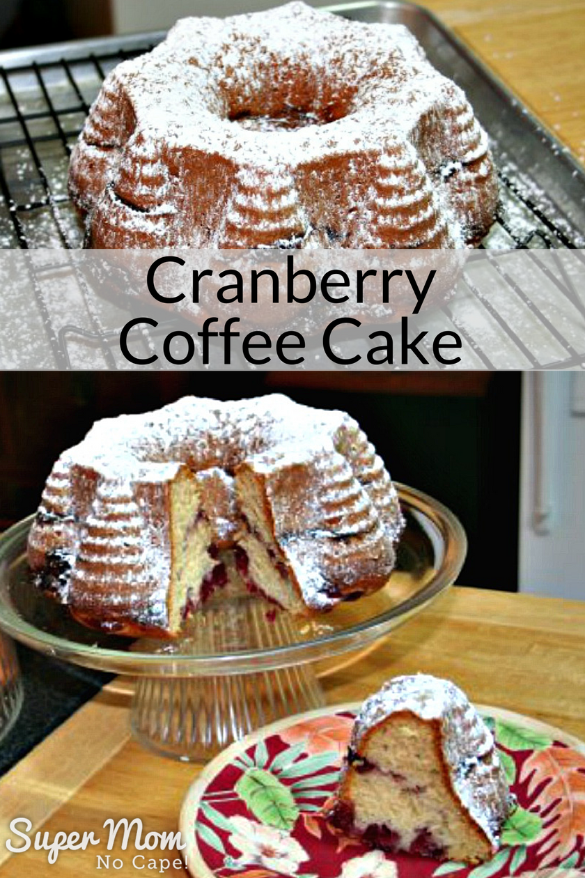 Cranberry Coffee Cake - not too sweet with just a right touch of tartness from the cranberries