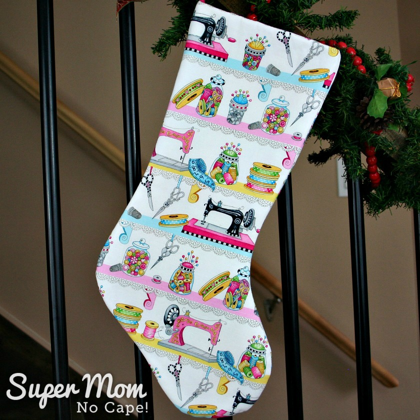 Novelty Sewing Cotton Christmas Stocking