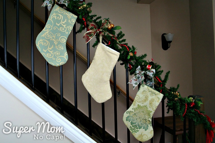 Three Victorian Inspired Christmas Stockings