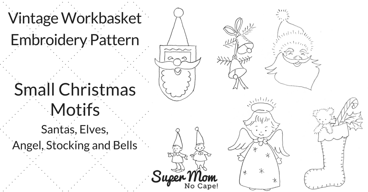 Small Christmas Motif Embroidery Patterns Super Mom No