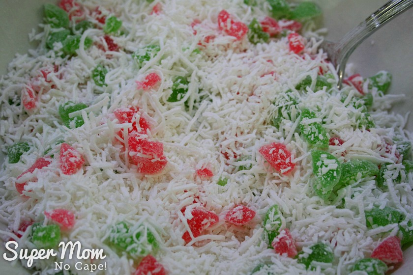 Coconut Cherry Drop Cookies - 3 mix dry ingredients thoroughly