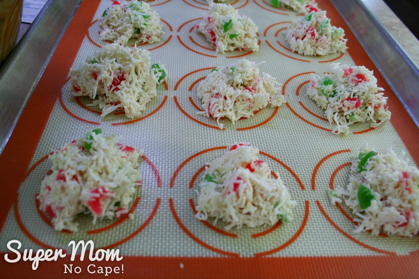 Coconut Cherry Drop Cookies - 8 Drop cookie dough by the spoonful onto baking sheets