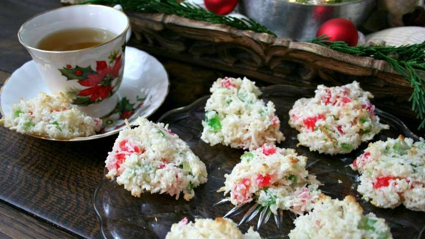 Gluten Free Cherry Coconut Drop Cookies
