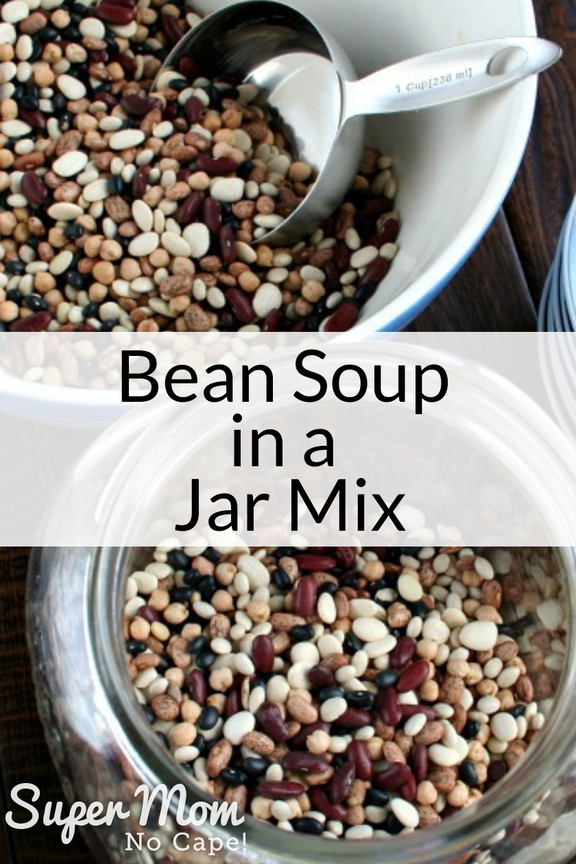 Bean Soup in a Jar Mix in a large bowl and large jar