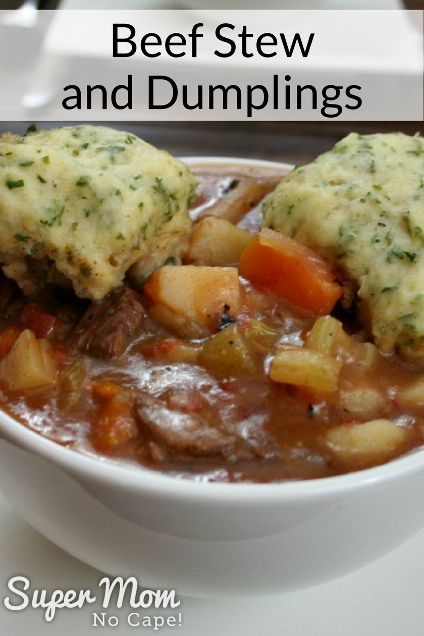 Hearty Beef stew and dumplings
