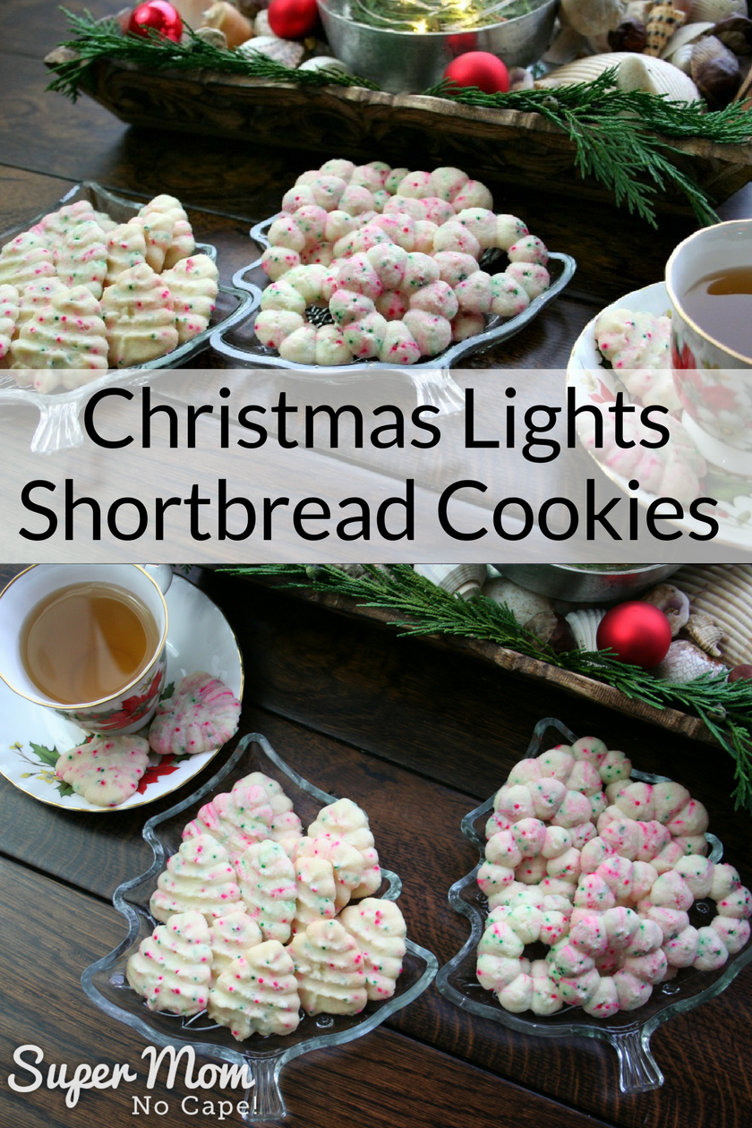 Christmas Lights Shortbread Cookies