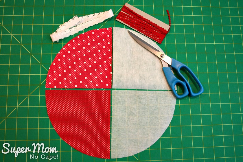 2. Cut out outer, lining and interfacing